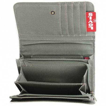 Porte monnaie toile forme poche Levi's Bleu gris kaki LEVI'S - 2