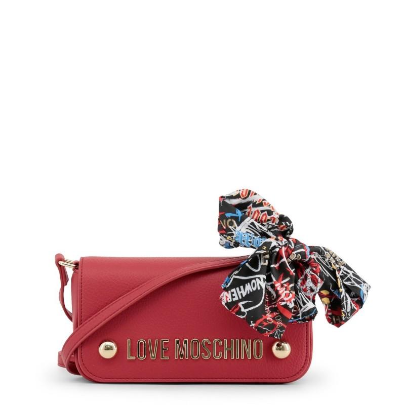 Petit sac épaule déco foulard Love Moschino Rouge