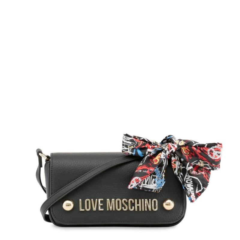 Petit sac épaule déco foulard Love Moschino Noir