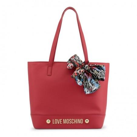 Sac cabas déco foulard Love Moschino Rouge