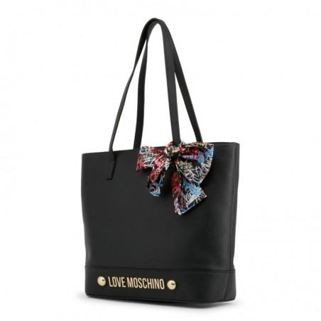 Sac cabas déco foulard Love Moschino Noir