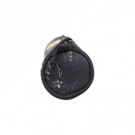 Trousse Les Tropéziennes ronde déco motif imprimé fleur Wissant Noir