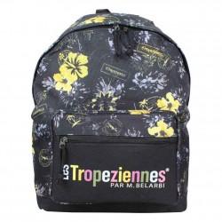 Sac à dos Les Tropéziennes motif fleur 1 poche Wissant Noir LES TROPÉZIENNES  - 1