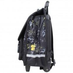 Cartable à roues Tropéziennes 40cm motif fleur Wissant Noir LES TROPÉZIENNES  - 2