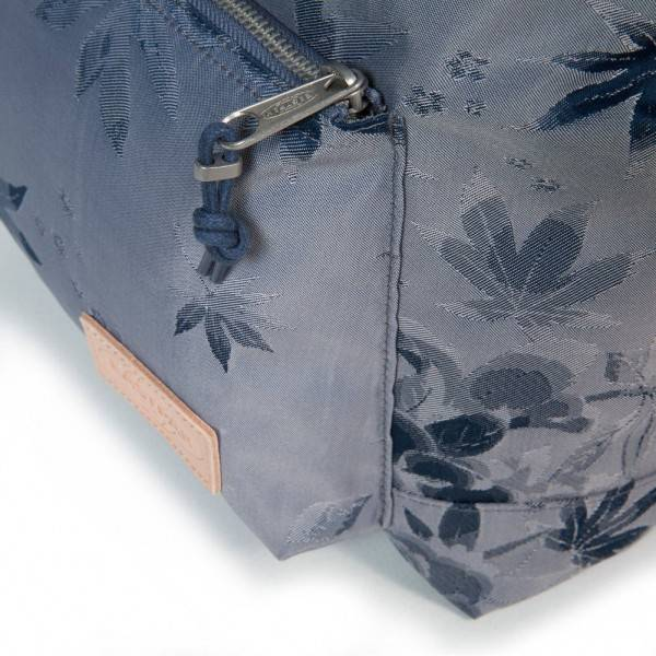 Canvas Flower Pattern 90t Ek46d Blue Leather Eastpak Zaino wExYTqUE
