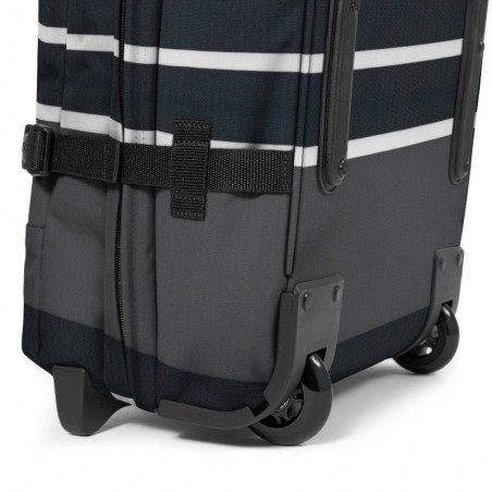 Sac de voyage avec roues EASTPAK EK62L 55T Slines Black Tranverz M motif imprimé noir et blanc