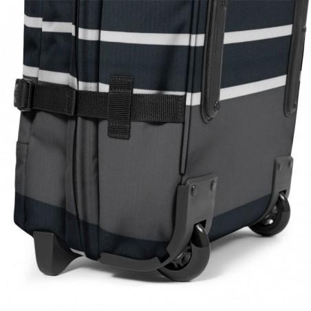 Sac de voyage avec roues EASTPAK EK61L 55T Slines Black Tranverz S motif imprimé noir et blanc