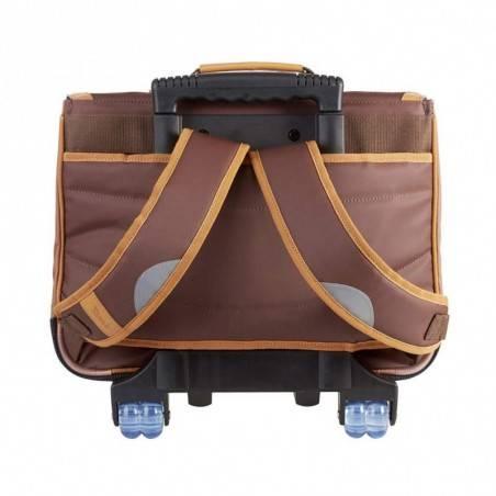 Cartable trolley à roues 38 cm Tann's Into the Wild 2 compartiments Marron Bison