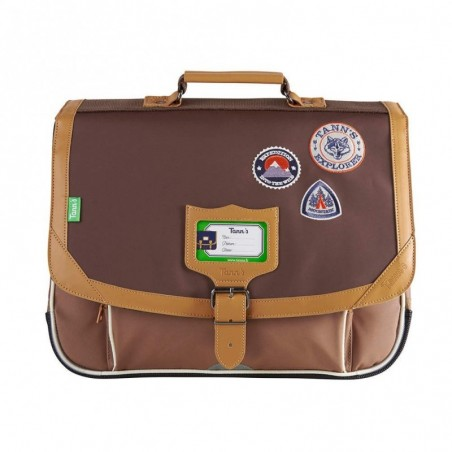 Cartable 38 cm Tann's Into the Wild 2 compartiments Marron Bison