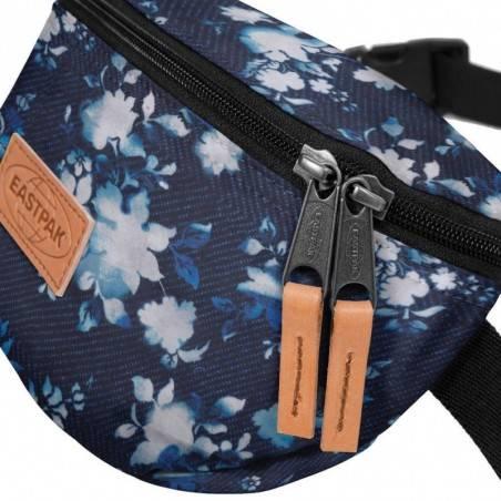 Petite pochette ceinture banane Eastpak EK074 81T Flower Bleach bleu marine fleur