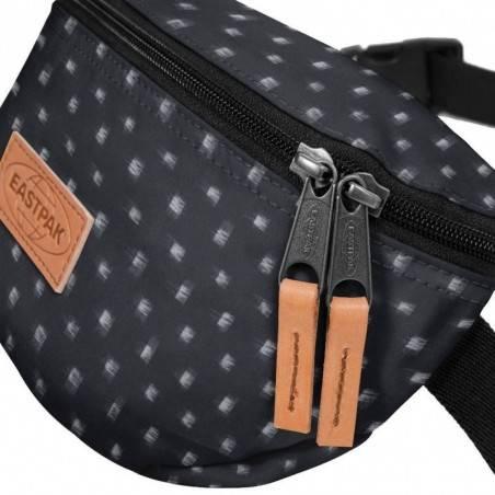 Petite pochette ceinture banane Eastpak EK074 80T Check Bleach Gris