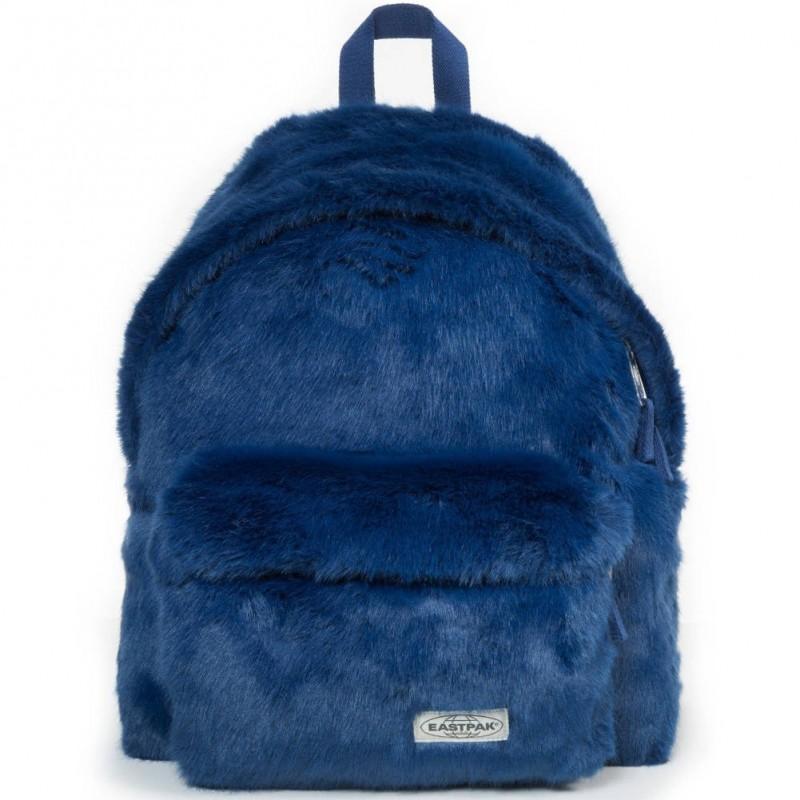 Sac à dos bleu effet fourrure Eastpak Padded Pak'r EK620 12U Blue Fur
