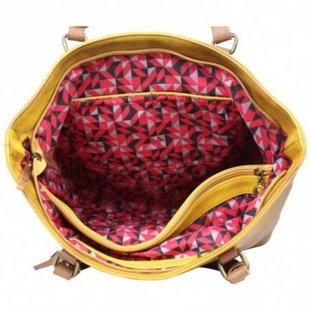 Petit porte monnaie femme fleur toile Fuchsia F9536-1 FUCHSIA - 4