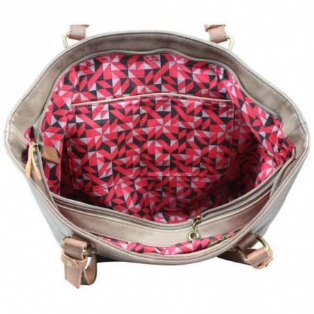 Petit porte monnaie femme fleur toile Fuchsia F9536-1 FUCHSIA - 3