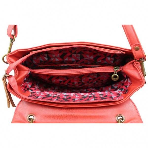 2764d72218bab Sac à main Fuchsia Omarion cartable souple vieilli rouge - Nouvelty.com