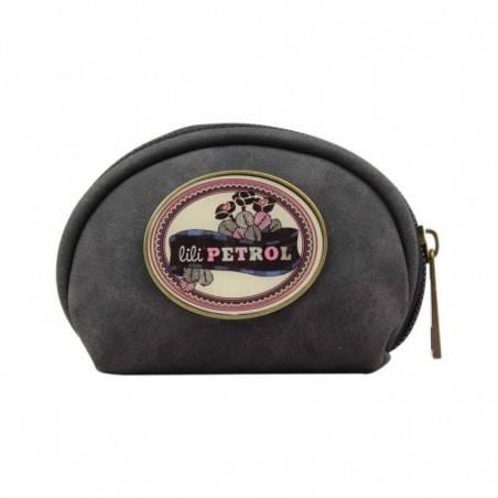 Petit porte monnaie bourse zip Lili Petrol CW noir
