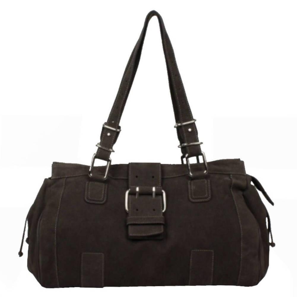 Sac porté épaule cabas toile et cuir Texier 5501 TEXIER - 1