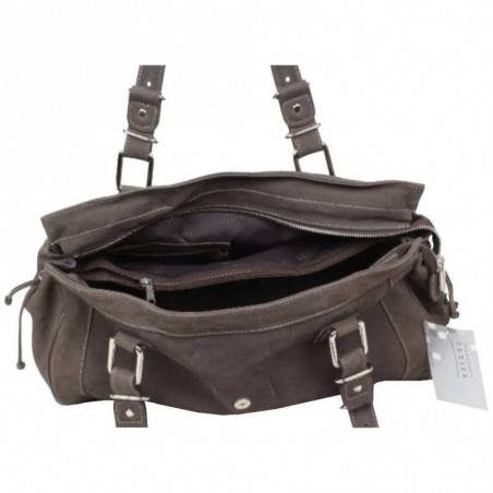 Sac porté épaule cabas toile et cuir Texier 5501 TEXIER - 4
