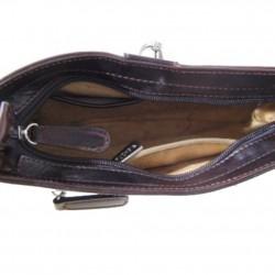 Sac épaule en cuir Fuchsia 04535-33 Marron FUCHSIA - 3
