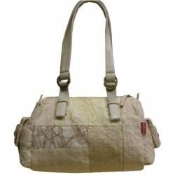 Sac épaule femme patchwork dentelle et textile 6527 NAJOLEARI - 3