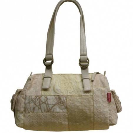 Sac bowling Naj effet patchwork dentelle et textile 6527 NAJOLEARI - 3