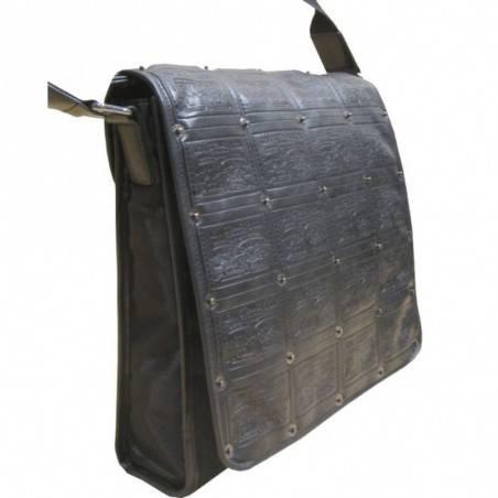 Sac pochette gibecière à grand rabas de marque Lévi's noir LEVI'S - 4