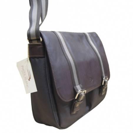Sac gibecière pochette  de marque Patrick Blanc marron PATRICK BLANC - 2