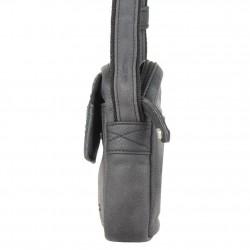 Pochette en cuir de marque Wylson en cuir noir w8144-6  WYLSON - 3