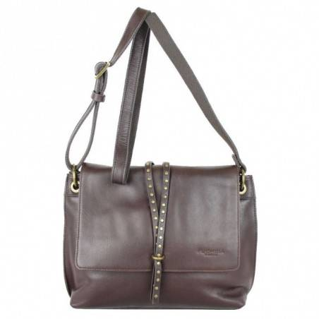 sac à main femme porté épaules chocolat fuschia