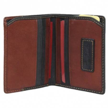 "Petit porte cartes cuir ""peau de pêche"" Tony Perotti G1034 Tony PEROTTI - 2"