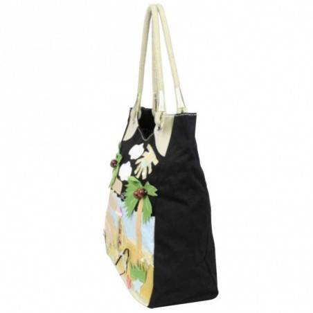 Grand sac cabas porté épaule toile à motifs 6795 A DÉCOUVRIR ! - 3