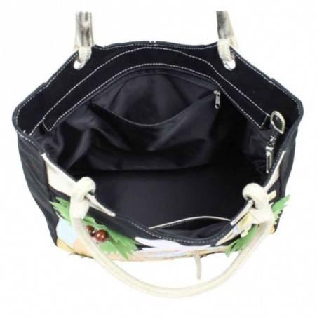 Grand sac cabas porté épaule toile à motifs 6795 A DÉCOUVRIR ! - 2