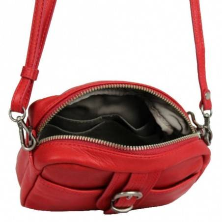 Petit sac bandoulière cuir Lancaster 578-01 LANCASTER - 2