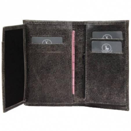 Petit portefeuille fabrication Française cuir 01582 / 5282 Nouvelty  FRANDI - 3