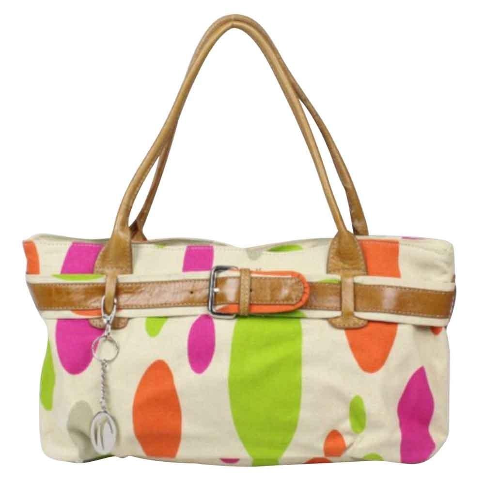 Sac porté épaule petit cabas toile multicolore Patrick Blanc 8904 PATRICK BLANC - 1