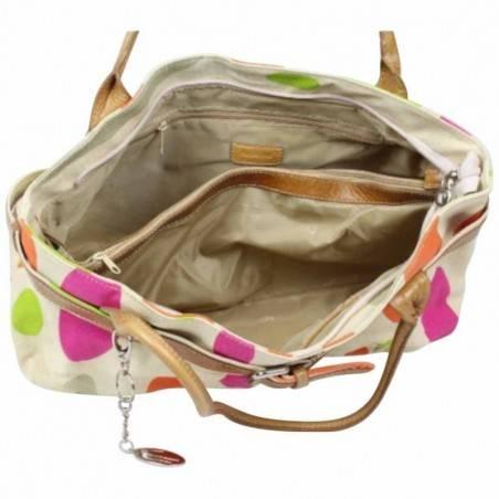 Sac porté épaule petit cabas toile multicolore Patrick Blanc 8904 PATRICK BLANC - 2