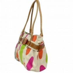 Sac porté épaule petit cabas toile multicolore Patrick Blanc 8904 PATRICK BLANC - 3