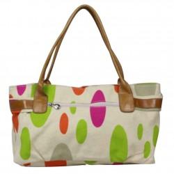 Sac porté épaule petit cabas toile multicolore Patrick Blanc 8904 PATRICK BLANC - 4