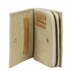 Porte monnaie à zip toile beige Arthur et Aston 8013-994 ARTHUR & ASTON - 2