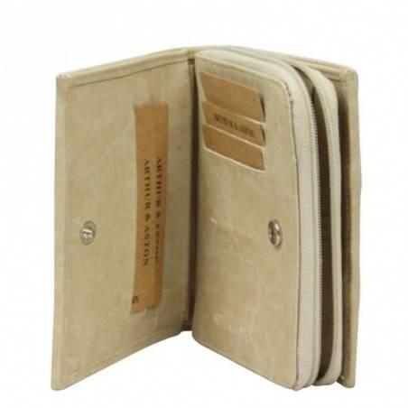 Porte monnaie à fermeture toile beige Arthur et Aston 8013-994 ARTHUR & ASTON - 2