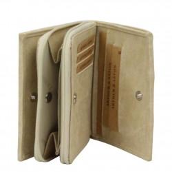 Porte monnaie à zip toile beige Arthur et Aston 8013-994 ARTHUR & ASTON - 3