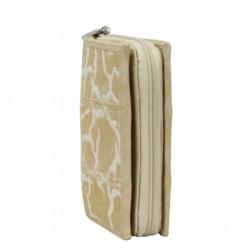 Porte monnaie à zip toile beige Arthur et Aston 8013-994 ARTHUR & ASTON - 4