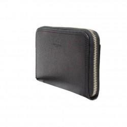 Porte-monnaie de marque Lancaster noir en cuir 142-02 LANCASTER - 3