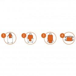 Housse pour valise L avec design motif Bus Anglais  - 2