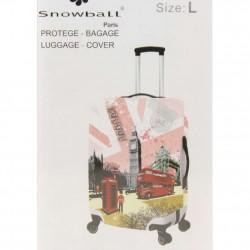 Housse pour valise L avec design motif Bus Anglais A DÉCOUVRIR ! - 2