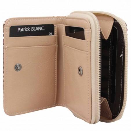 Porte monnaie Patrick Blanc en cuir motif lézard beige nude PATRICK BLANC - 5