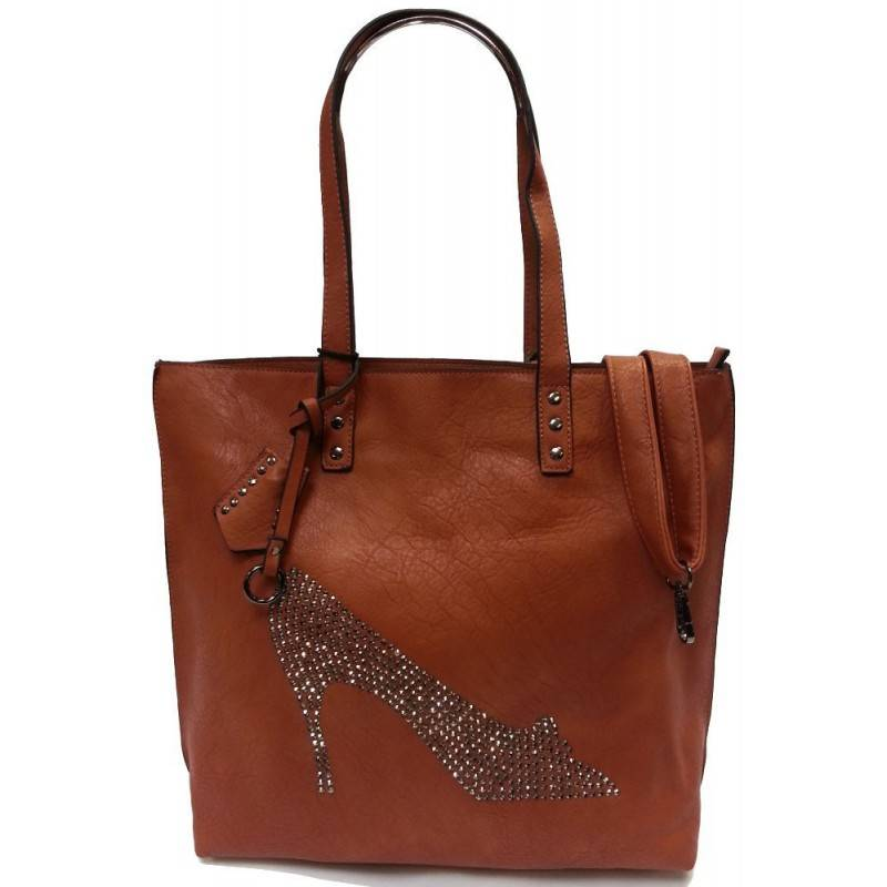 Sac cabas camel strass chaussure Eternel - 1