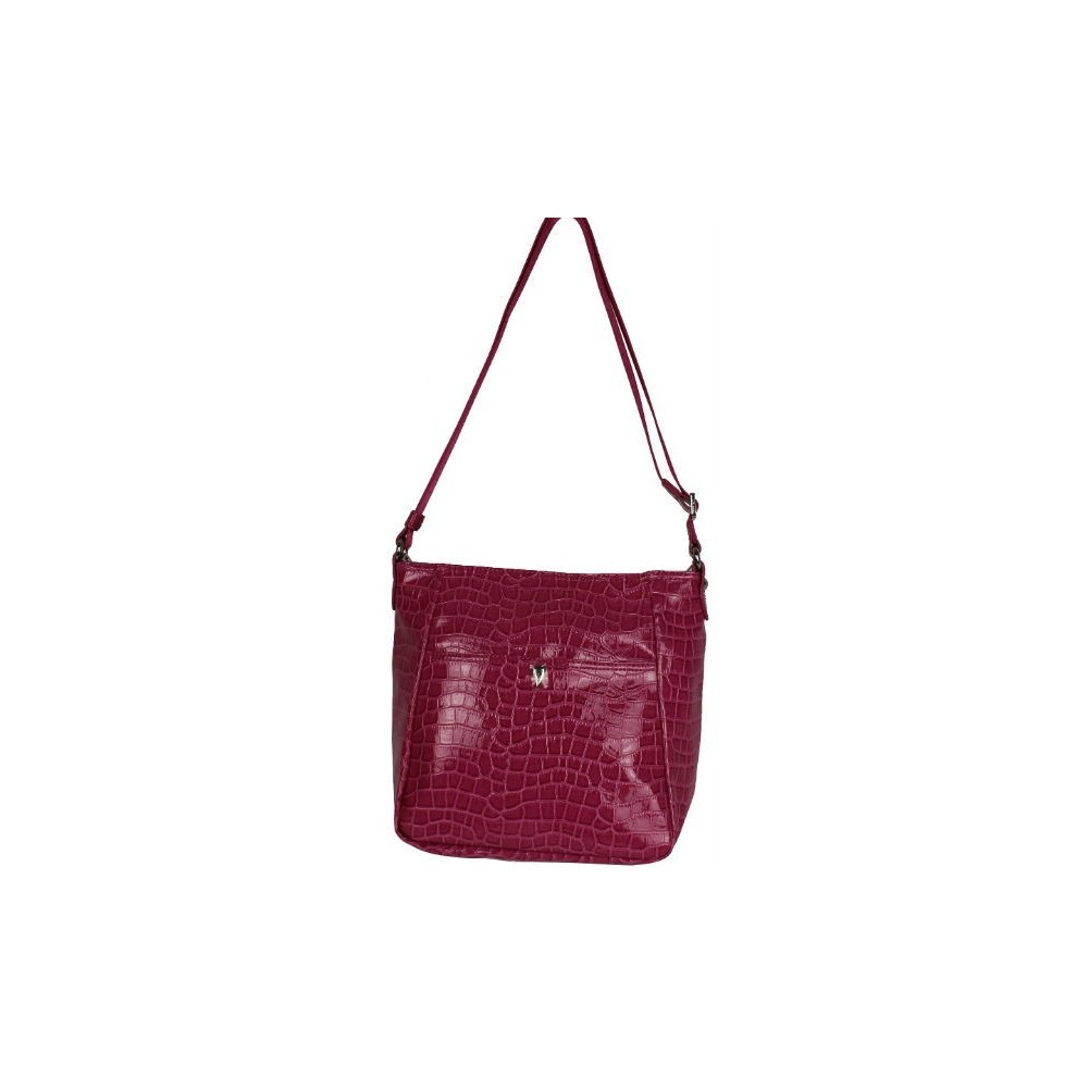 Petit sac bandoulière Lancaster style croco verni 541-11 LANCASTER - 5