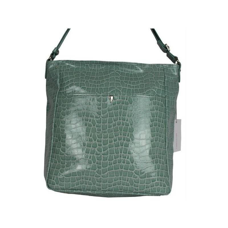 Grand sac bandoulière Lancaster effet croco verni 541-16 LANCASTER - 1