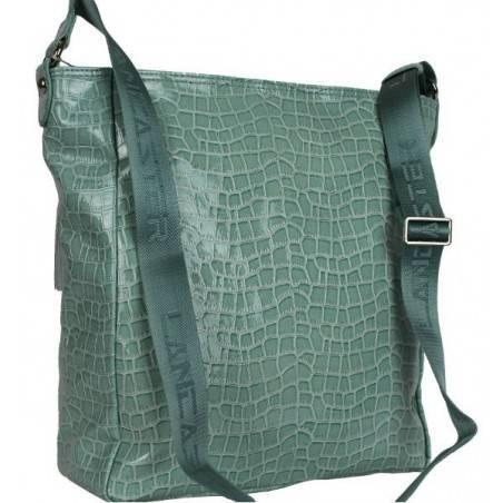 Grand sac bandoulière Lancaster effet croco verni 541-16 LANCASTER - 3